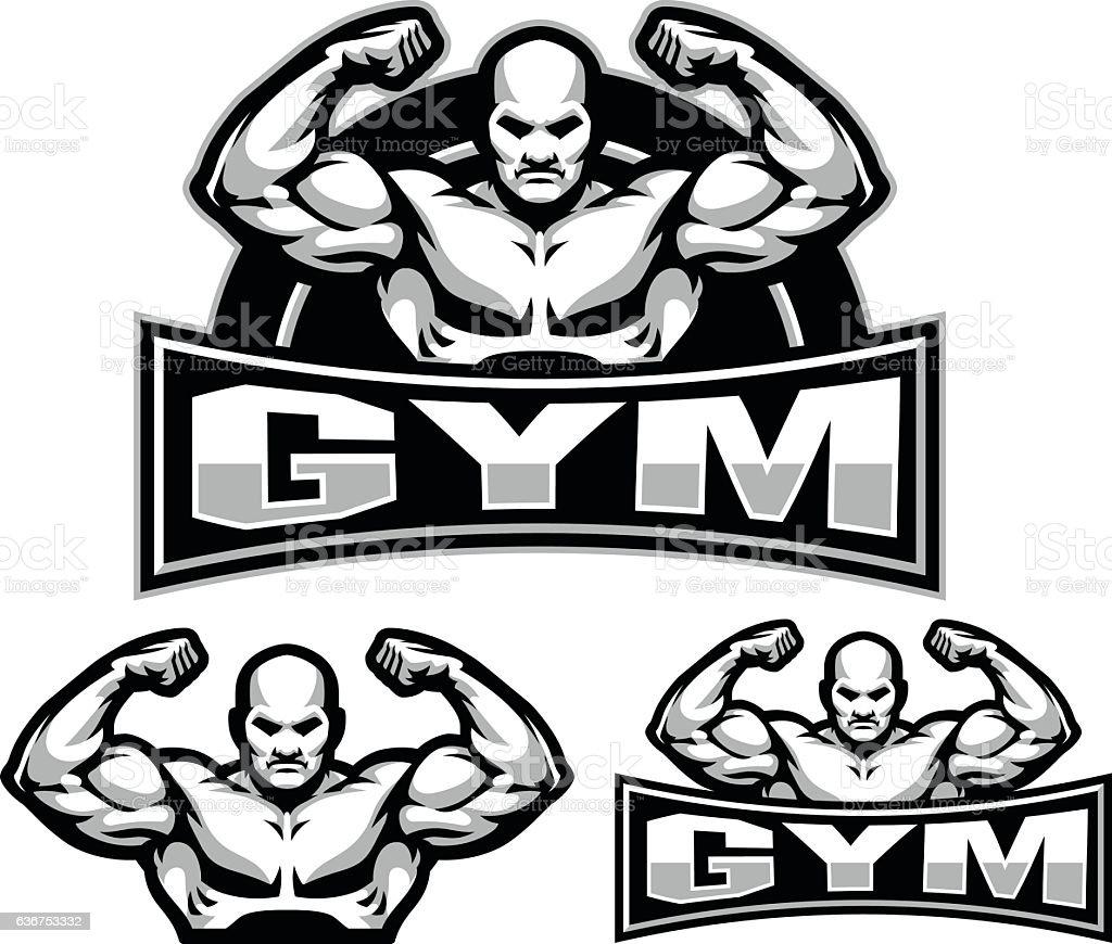 Gym Flex vector art illustration