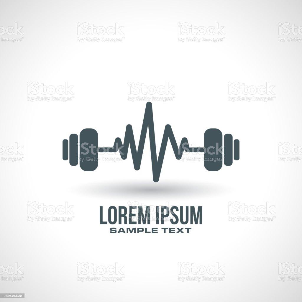 gym icon design vector art illustration