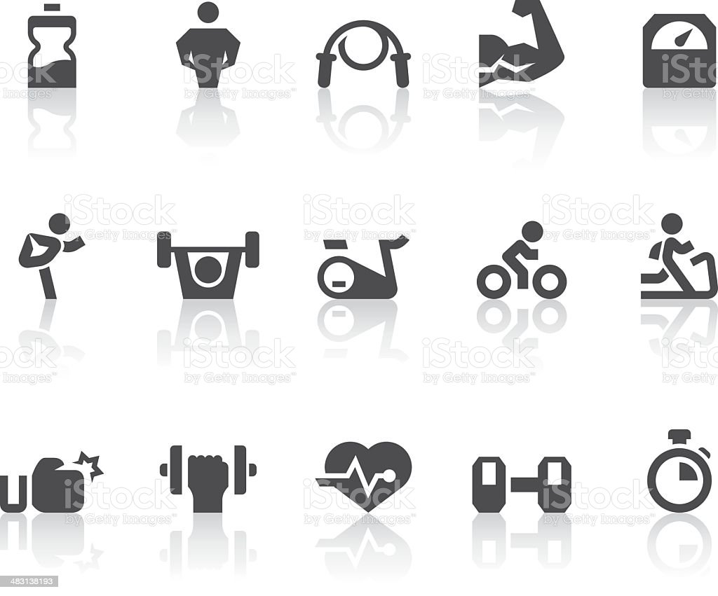 Gym Icons | Simple Black Series vector art illustration