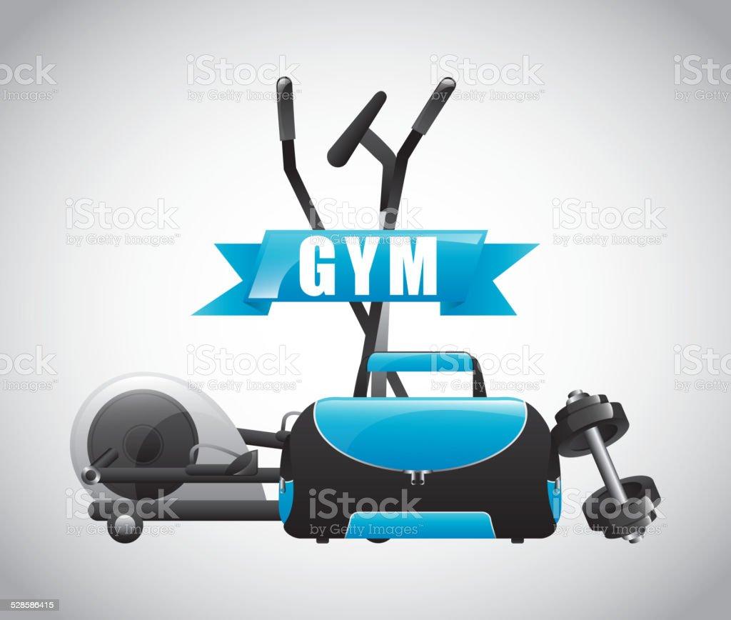gym label design vector art illustration