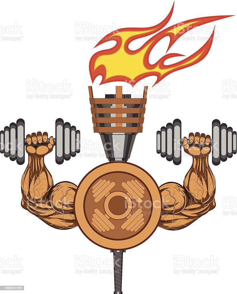 Gym logo - vector illustration royalty-free stock vector art