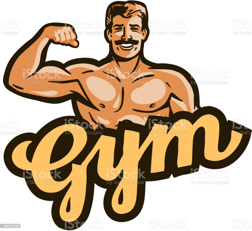 gym vector logo. sport, fitness or bodybuilding icon vector art illustration