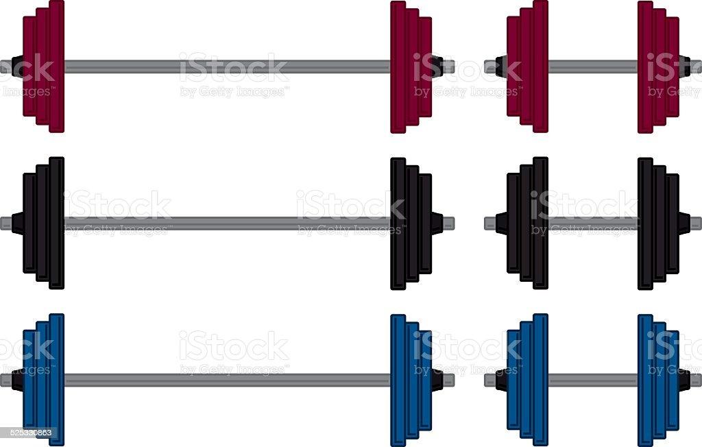 Gym Weight vector art illustration
