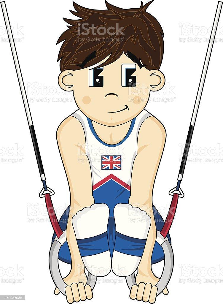 Gymnast on the Rings vector art illustration