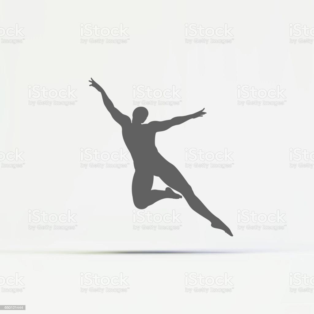 Gymnast. Silhouette of a Dancer. Gymnast. Silhouette of a Dancer. vector art illustration