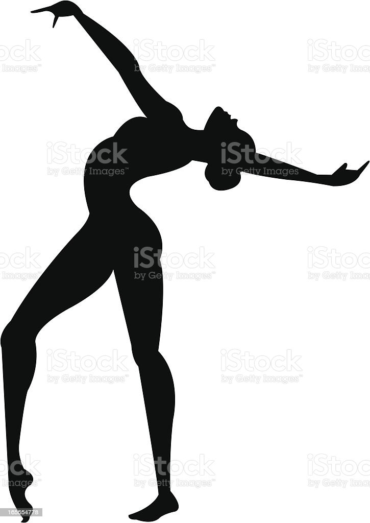 Gymnast silhouette royalty-free stock vector art