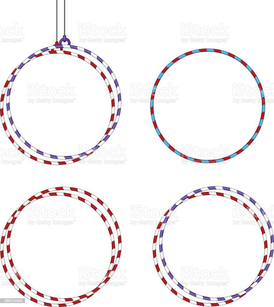 Gymnastic Equipments. Gymnastic hoop. vector art illustration