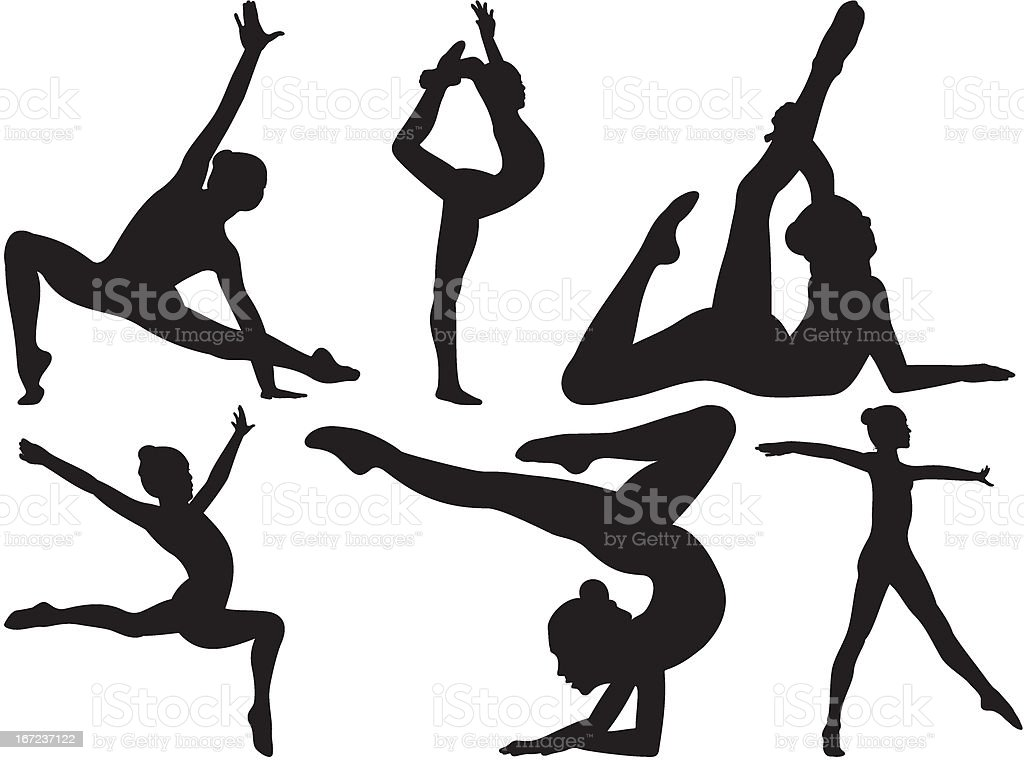 gymnastics and fitness royalty-free stock vector art