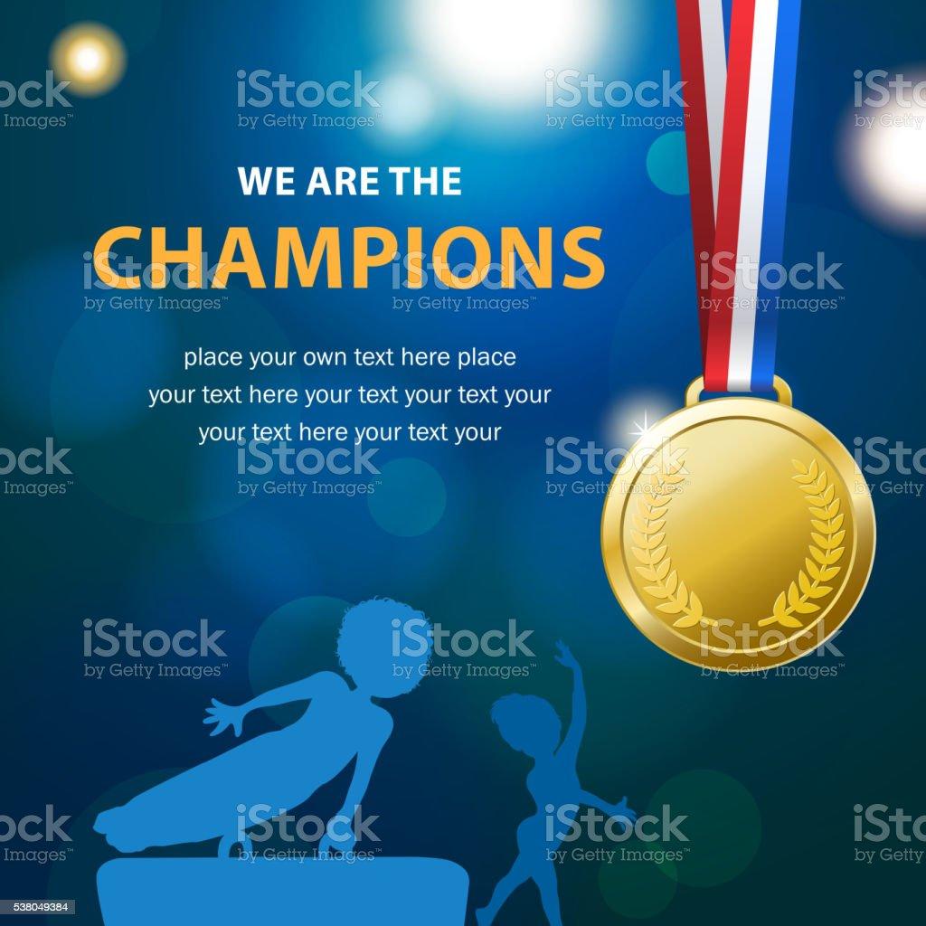 Gymnastics Championships vector art illustration