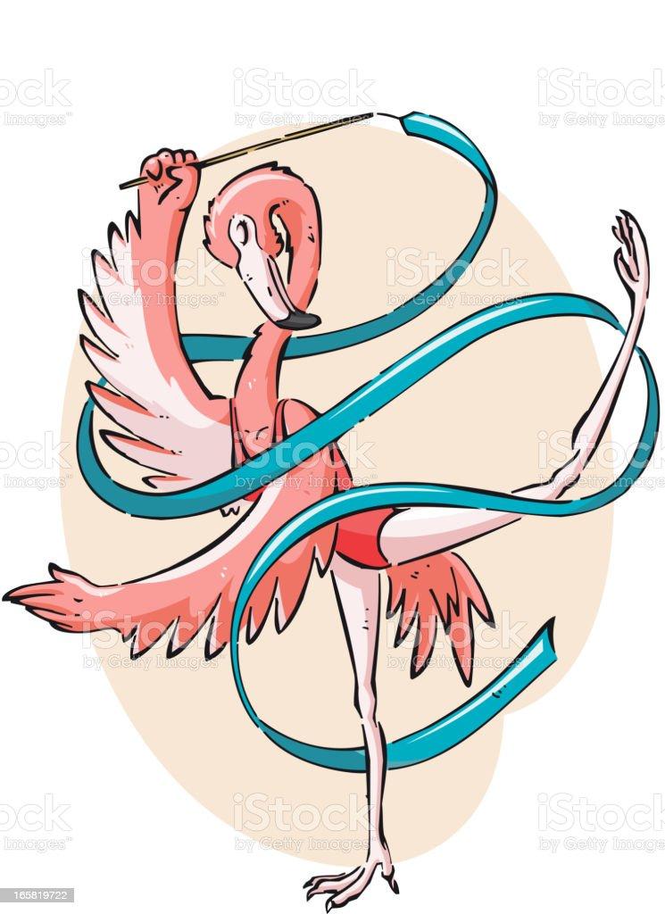Gymnastics flamingo Bird Animal royalty-free stock vector art