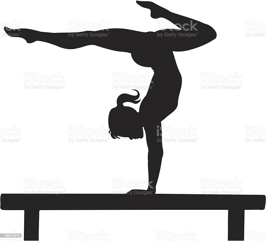 Gymnastics vector art illustration