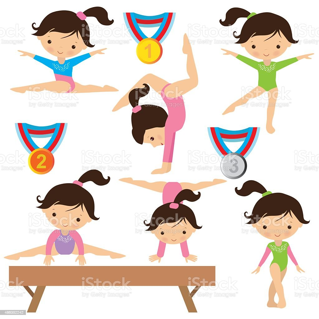 Gymnastics vector illustration vector art illustration