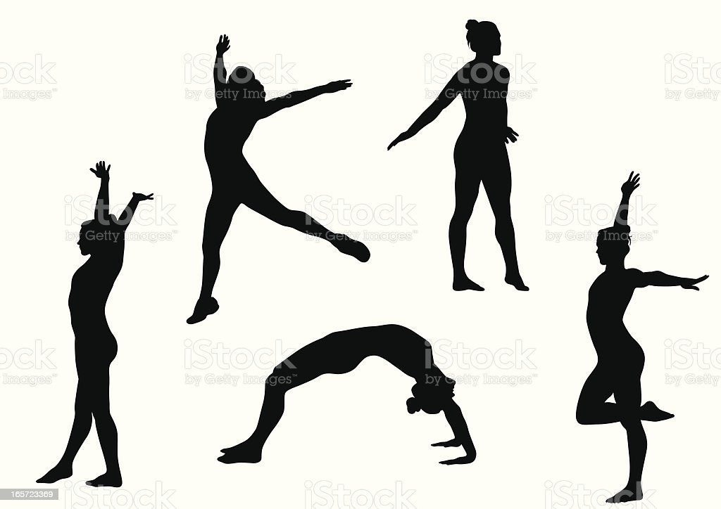 Gymnastics Vector Silhouette vector art illustration