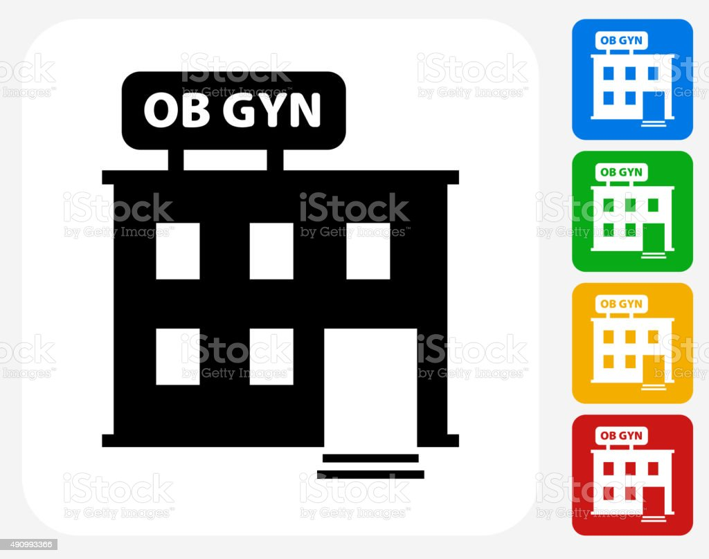 Gynecology Offices Icon Flat Graphic Design vector art illustration