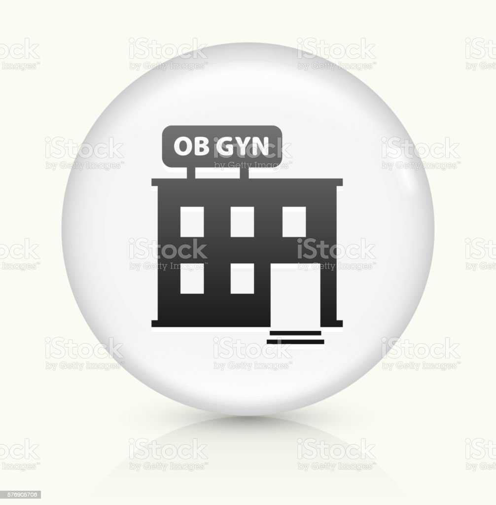 Gynecology Offices icon on white round vector button vector art illustration