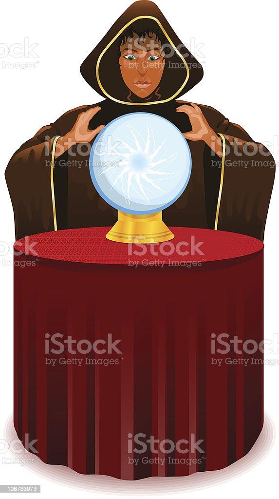 Gypsy Fortune Teller royalty-free stock vector art