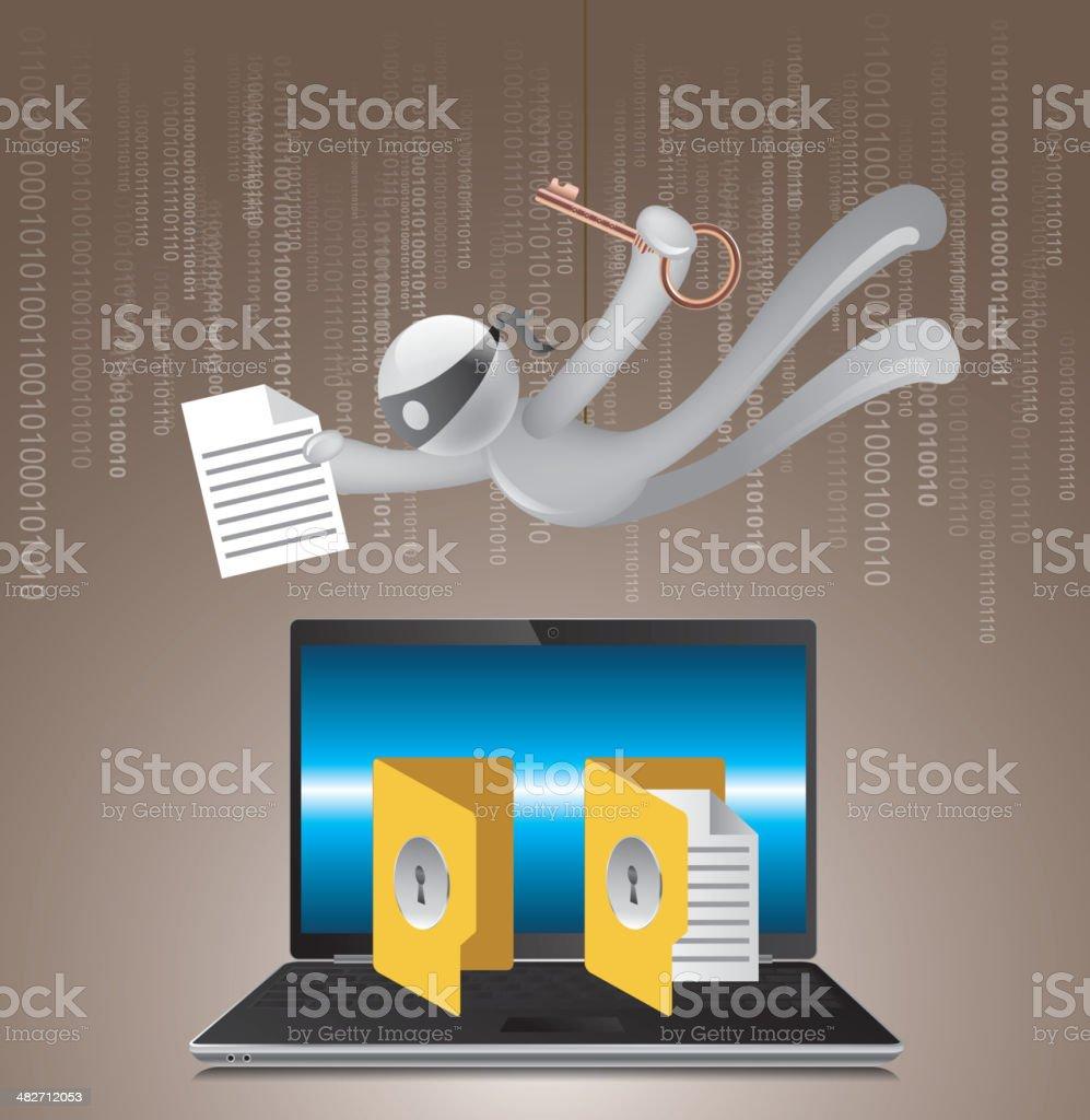 Hacker vector art illustration