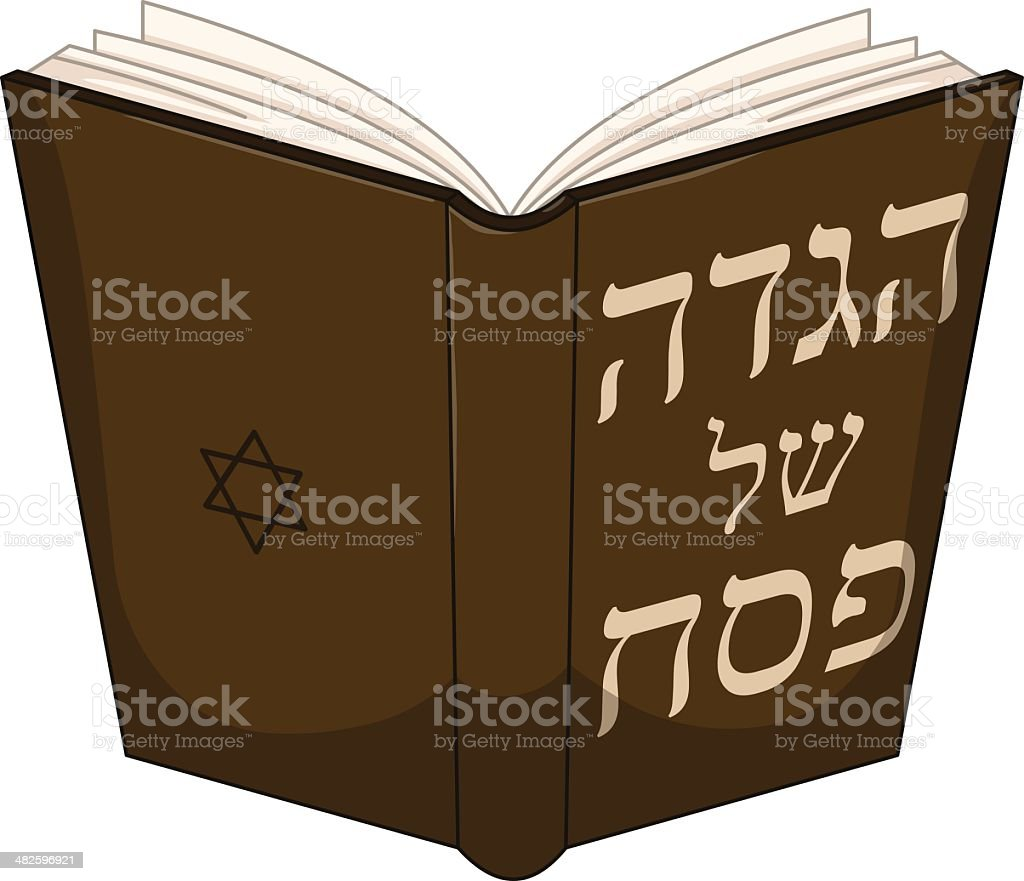 Haggdah Book For Passover vector art illustration