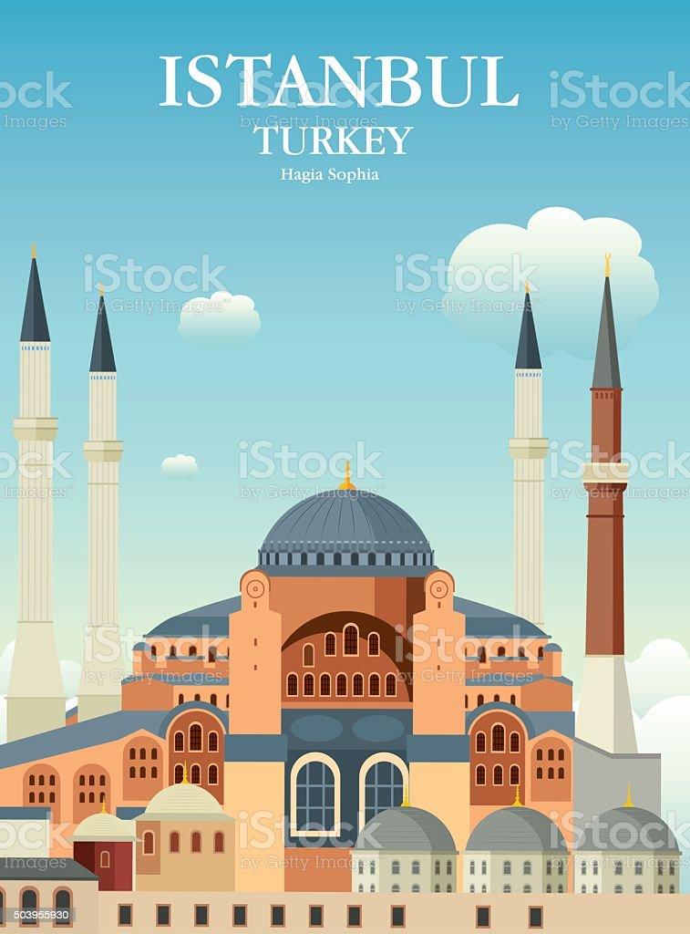 Hagia Sophia vector art illustration