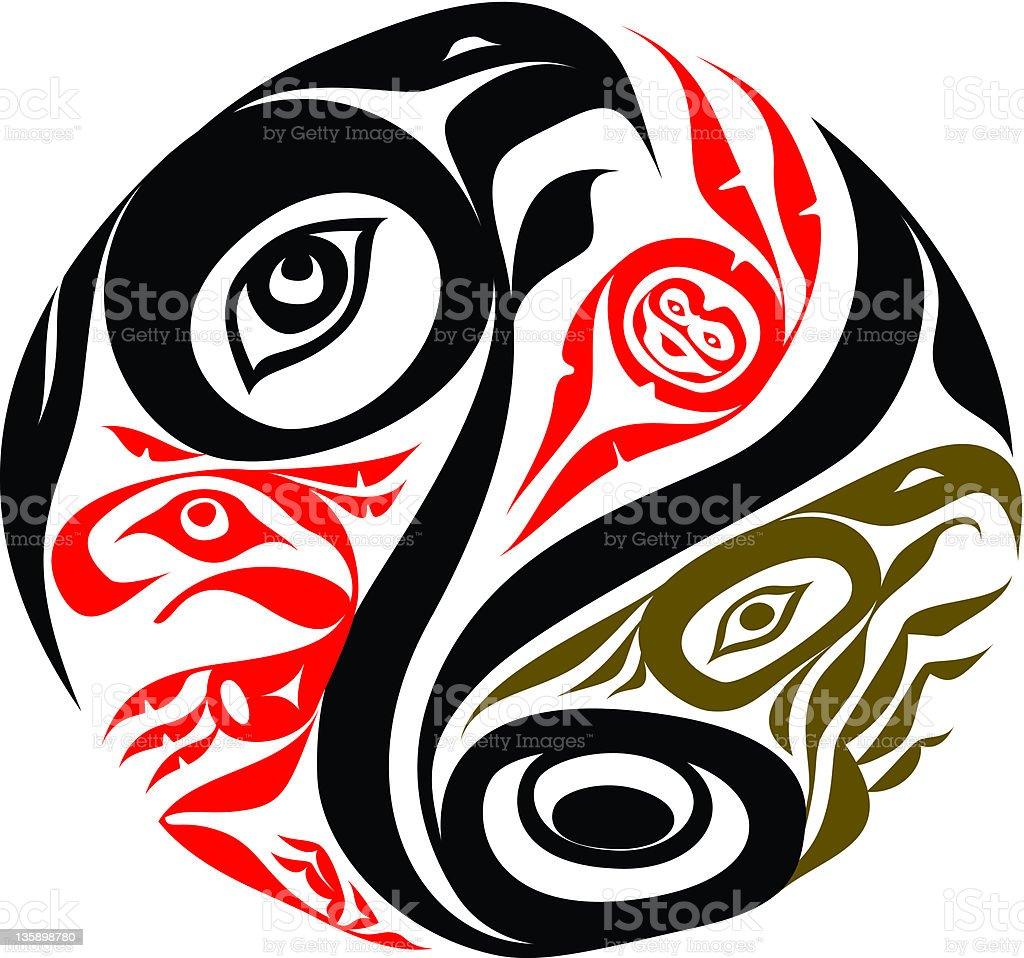 Haida Circle vector art illustration