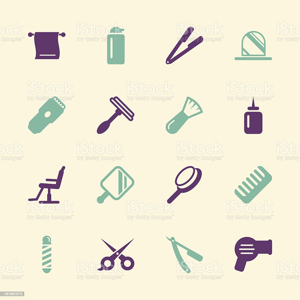 Hair Care Barber Icons - Color Series   EPS10 royalty-free stock vector art