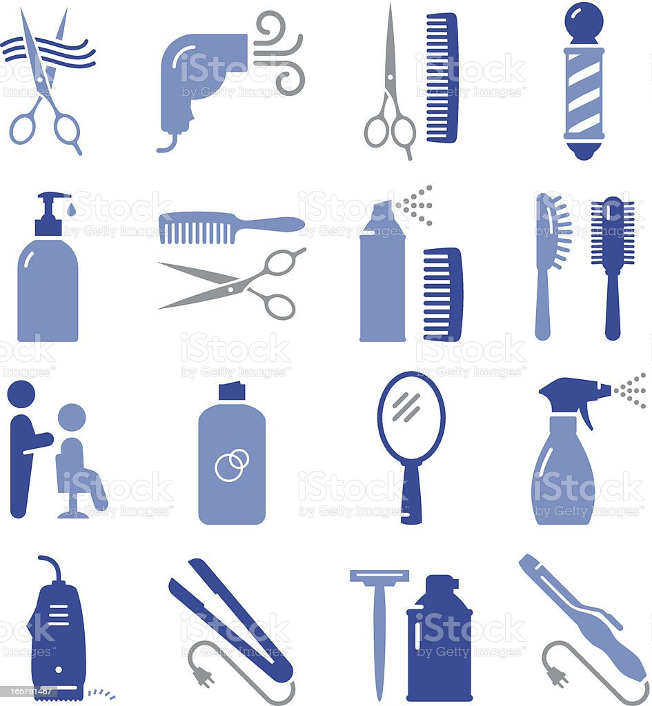 Hair Care Icons - Pro Series royalty-free stock vector art