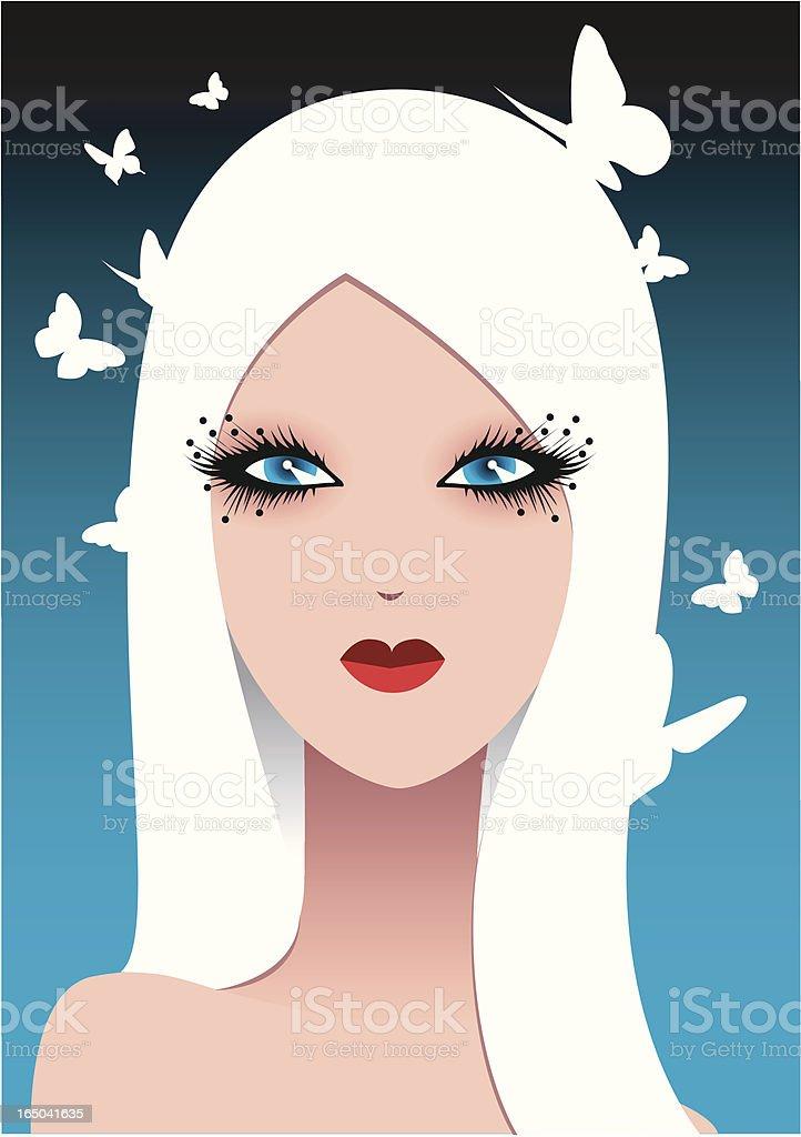 Hair colour series vector art illustration