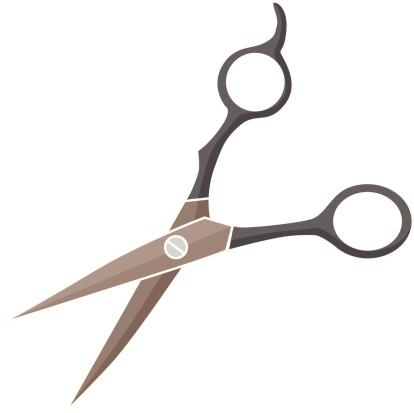 Haircutting Scissors Clip Art, Vector Images ...