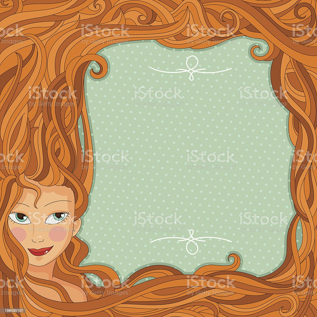 hair design royalty-free stock vector art