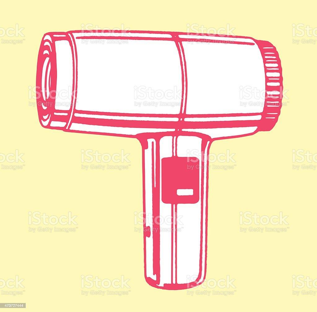 Hair Dryer vector art illustration