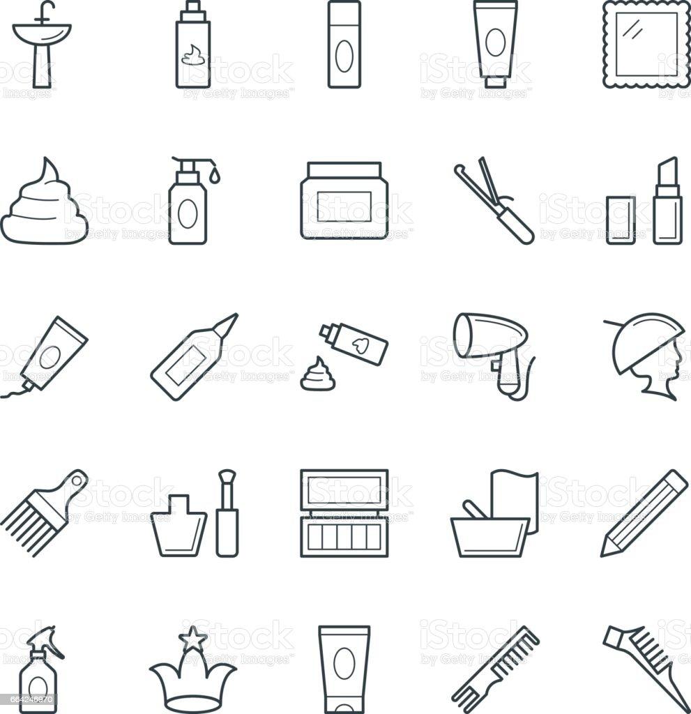 Hair Salon Cool Vector Icons 2 vector art illustration