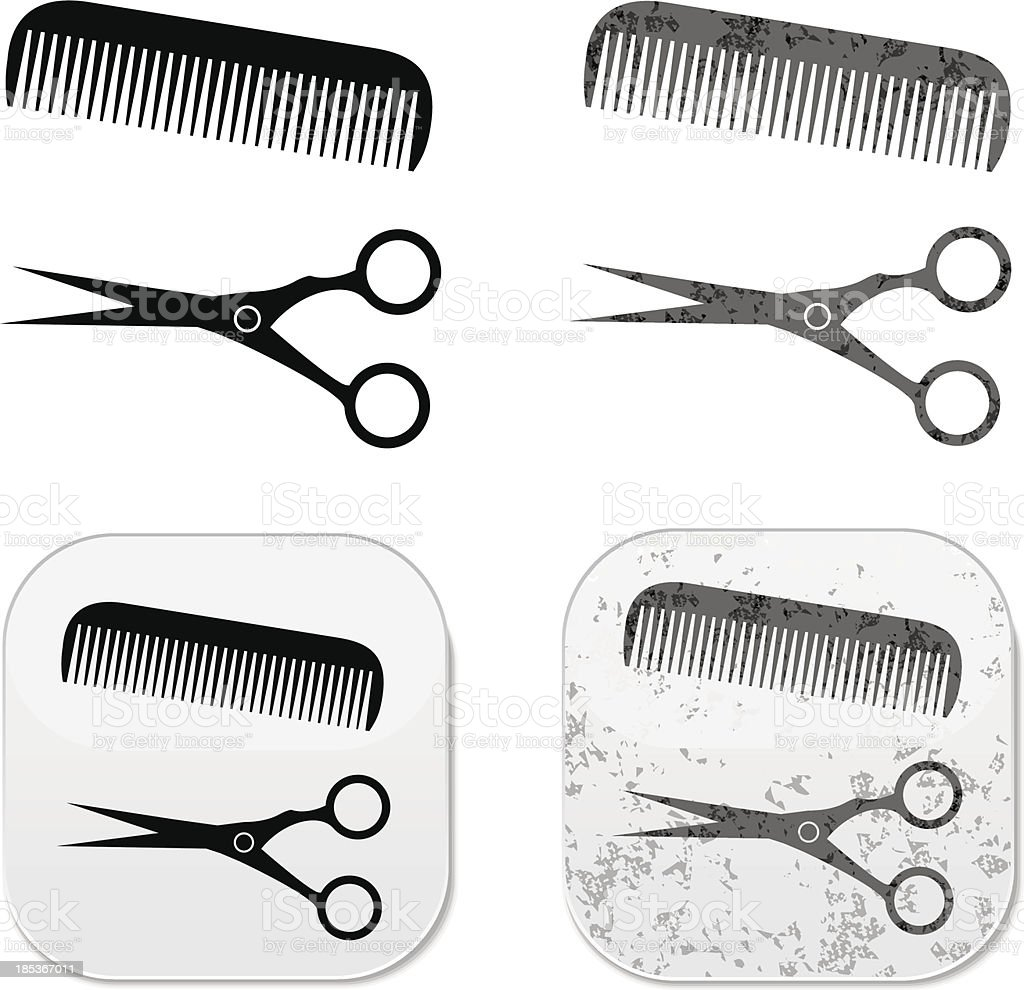 Hair Salon grunge design royalty-free stock vector art