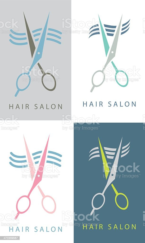 Hair Salon sign royalty-free stock vector art