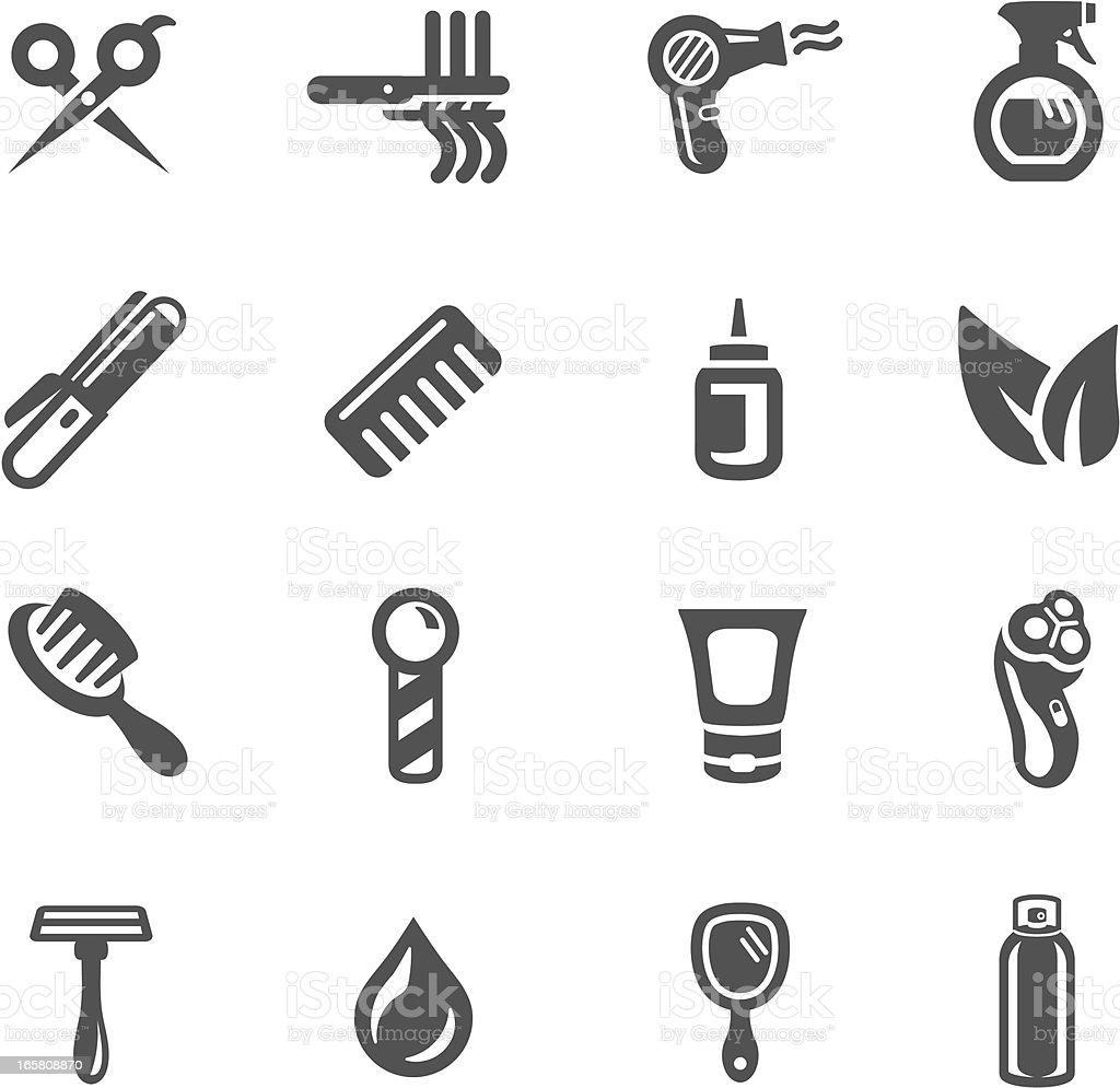 Hair Salon Symbols vector art illustration
