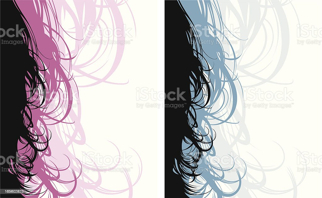 Hair Scroll vector art illustration
