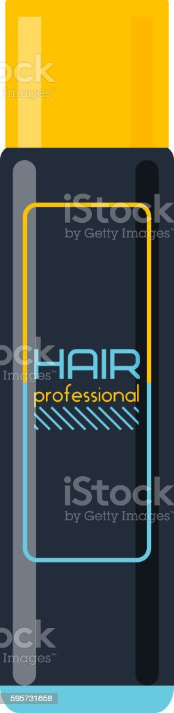 Hair spray vector illustration. vector art illustration