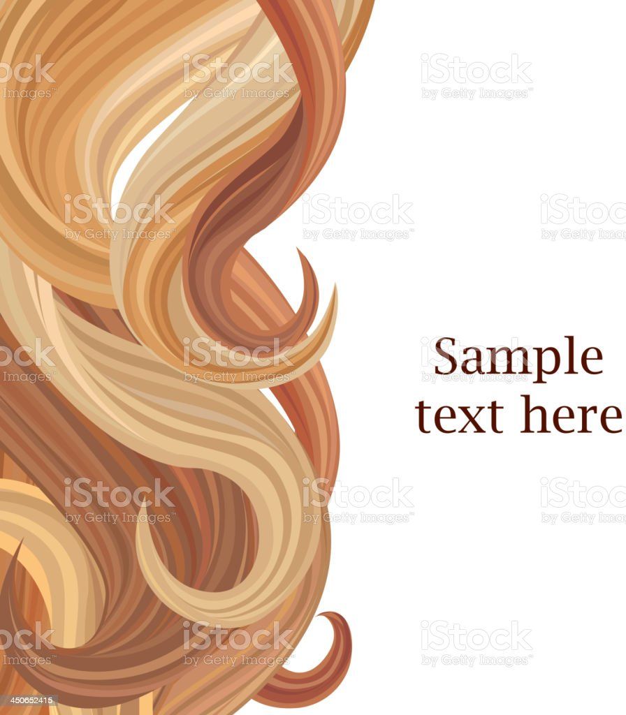 Hair style background vector art illustration
