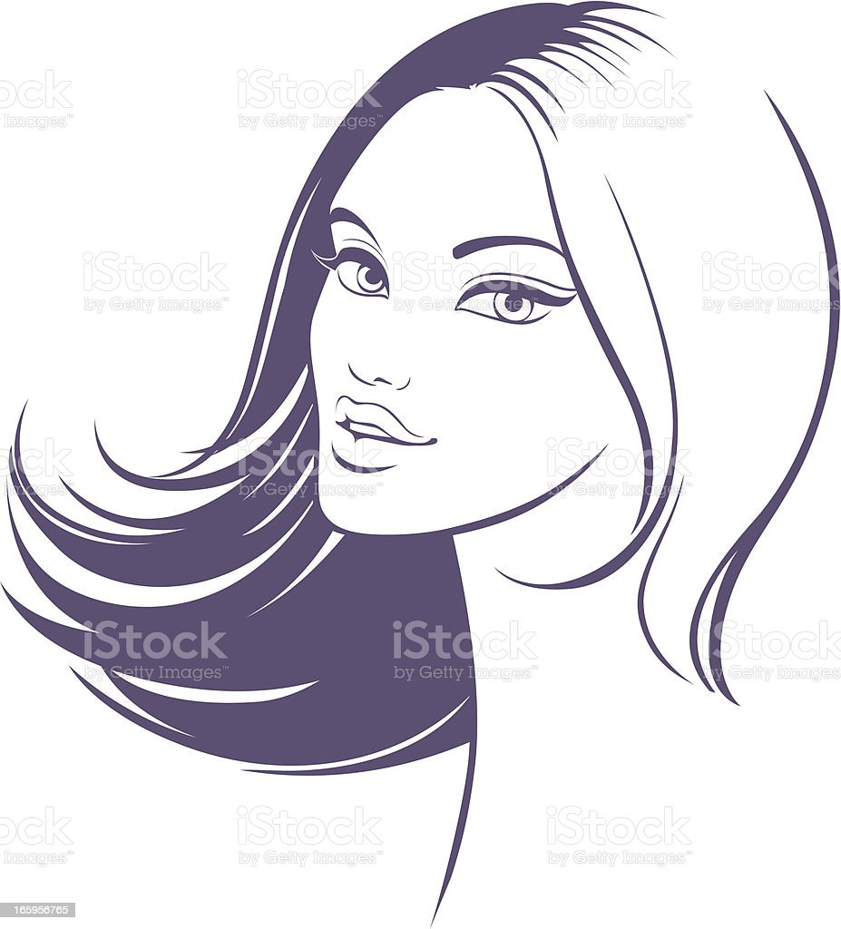 Hair style icon royalty-free stock vector art