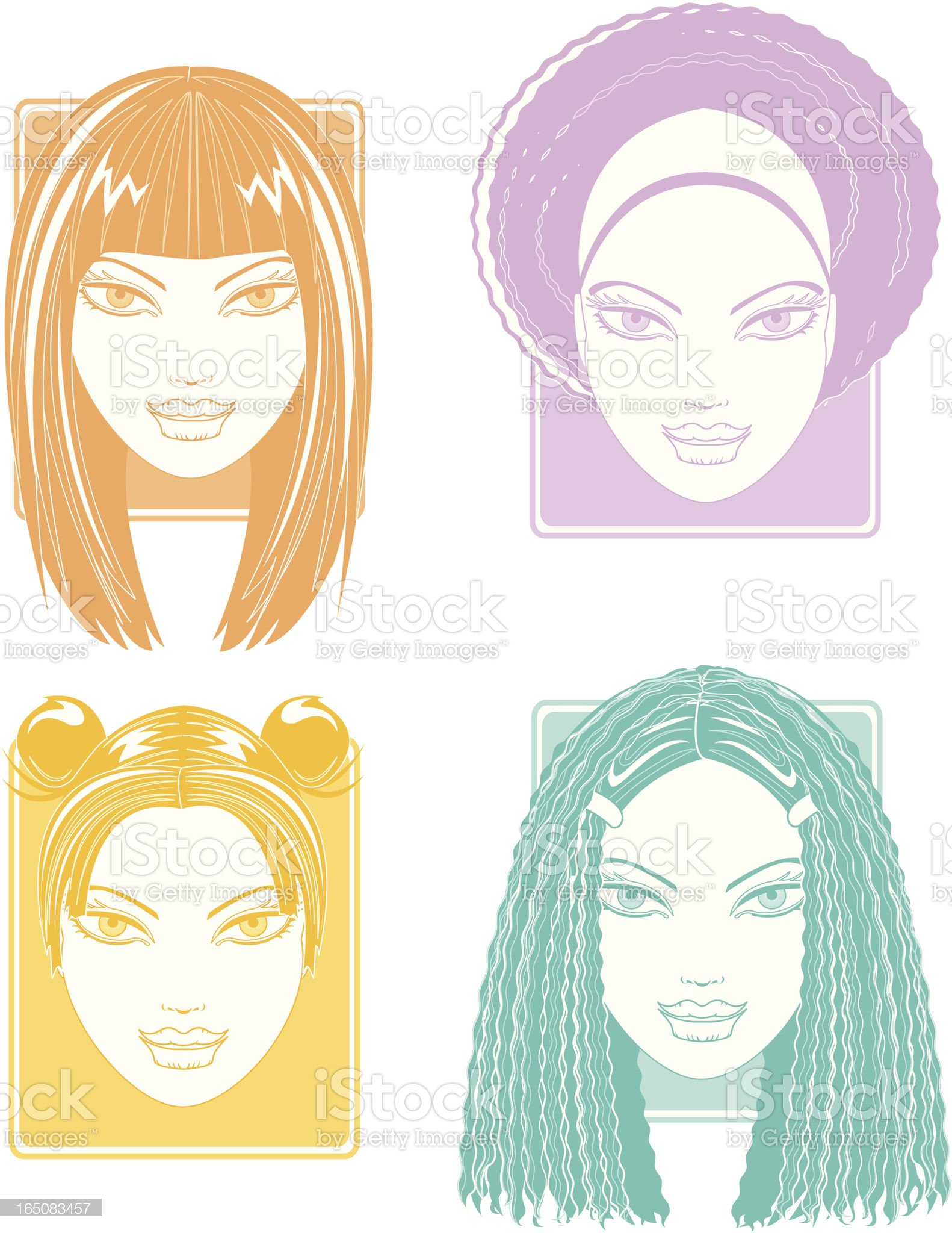 Hair Styles . part two royalty-free stock vector art