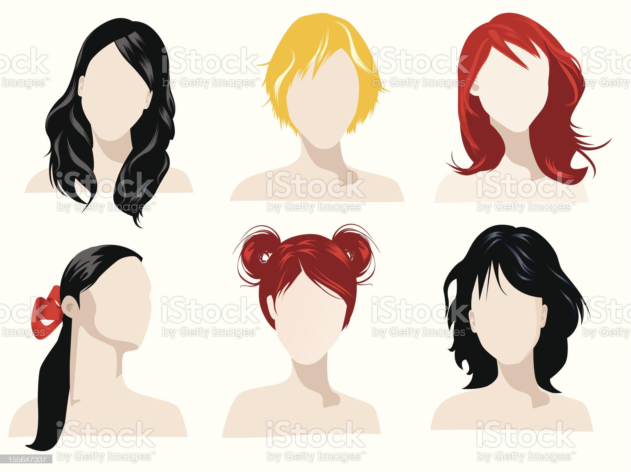hair styles royalty-free stock vector art