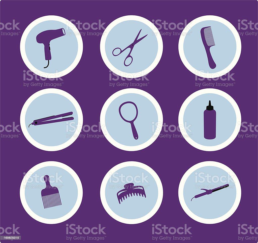 Hair Stylist Icons royalty-free stock vector art
