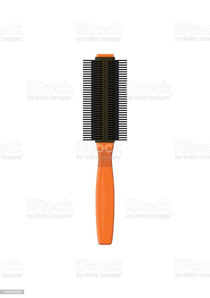 Hairbrush hair comb icon. Fashion hairdresser care equipment. vector art illustration