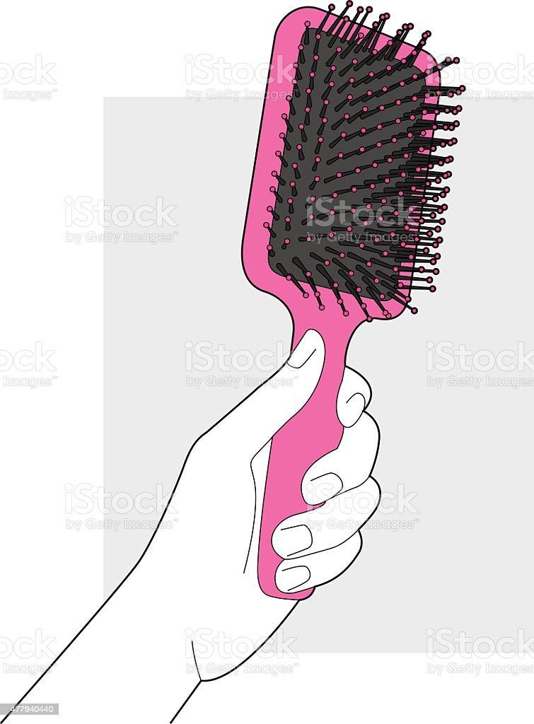 Hairbrush Line Art vector art illustration