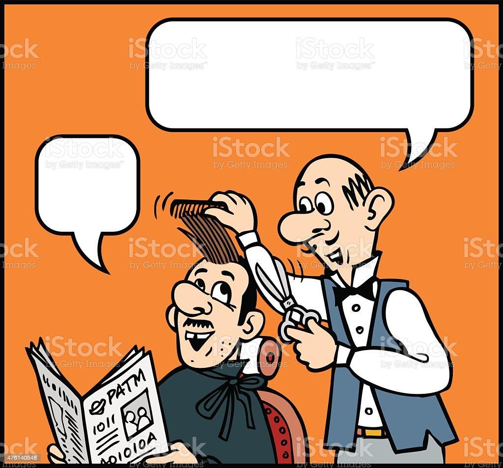 Haircut Cartoon vector art illustration