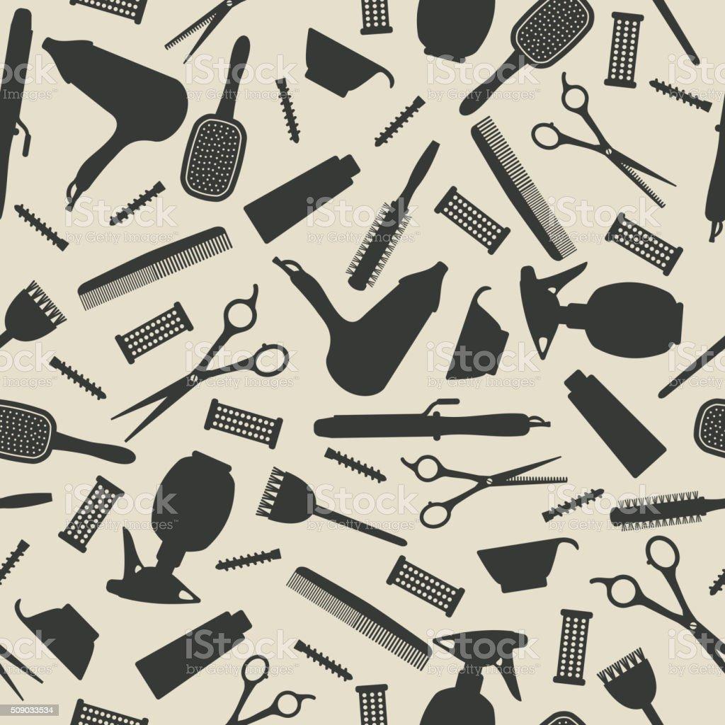 hairdresser seamless background vector art illustration