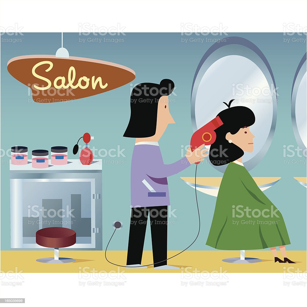 Hairdresser royalty-free stock vector art