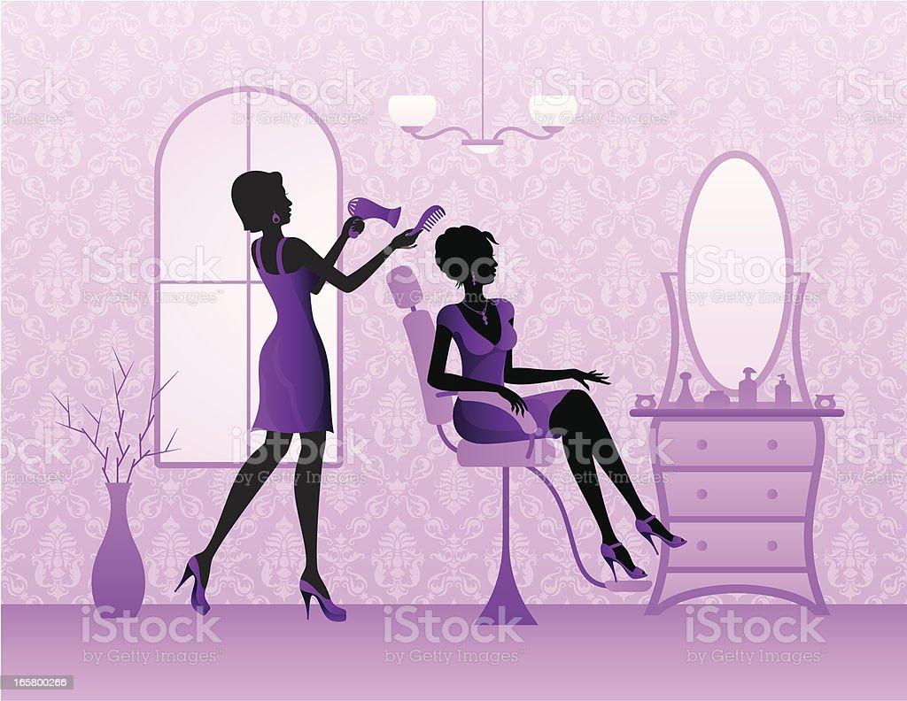 Hairdressing Salon vector art illustration