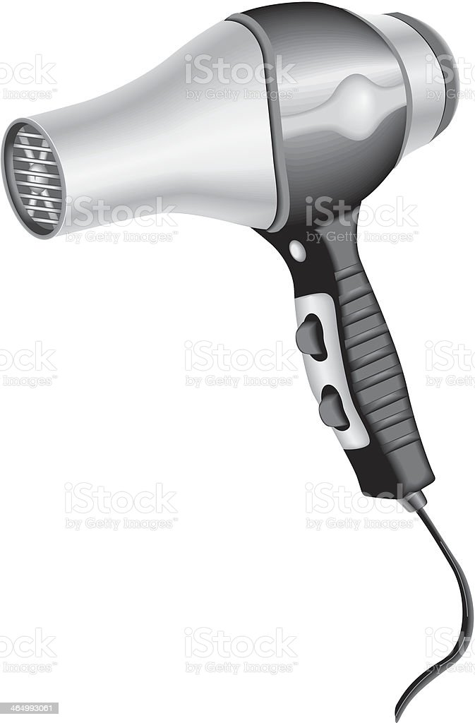 Hairdryer vector art illustration