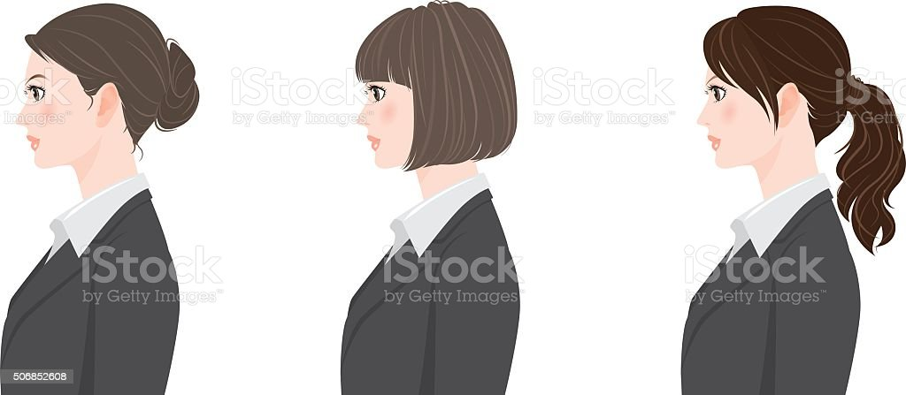 Hairstyle / Businesswoman vector art illustration