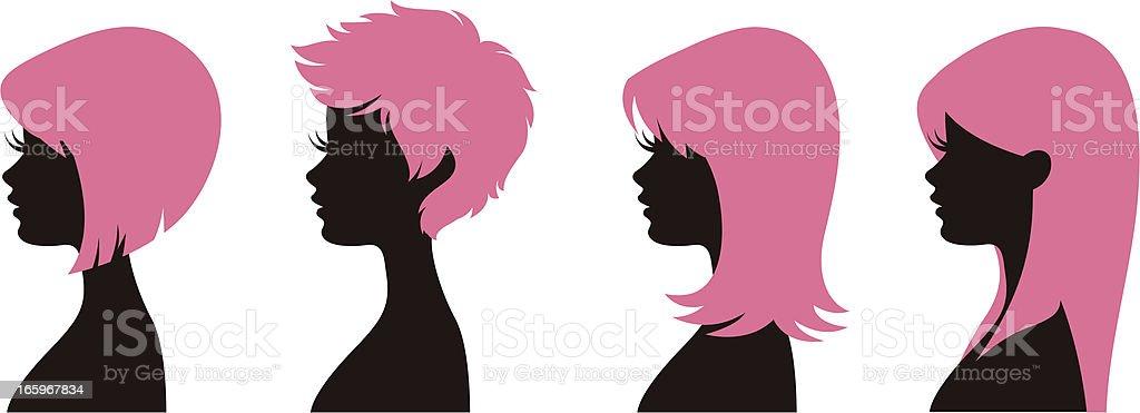 Hairstyles 1 vector art illustration